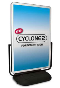 Vivid Cyclone Forecourt Sign