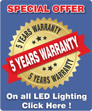 Sign Lighting 5 year Warranty